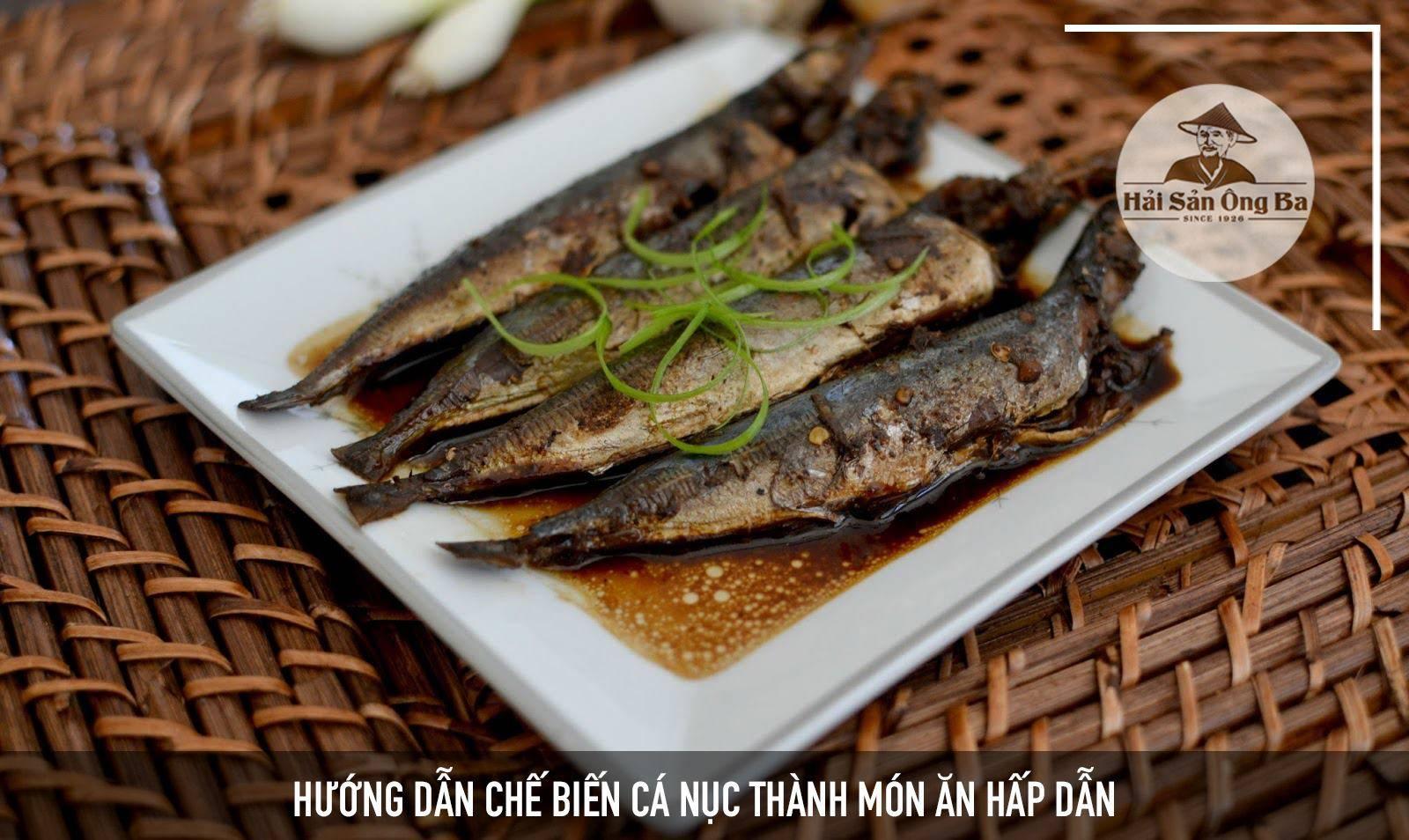 món ăn cá nục, đĩa cá nục trên nan tre