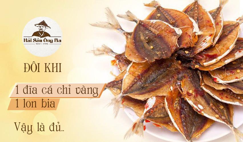 đĩa cá chỉ vàng nướng, món ăn, đặc sản hải sản ông ba - Hạ Long